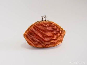 ビーズ編みがま口【モカ】の画像