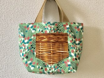 新作★reversible mini tote bag【leaf】の画像