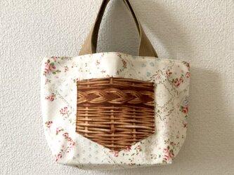 新作★reversible mini tote bag【rose】の画像