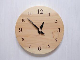 ヒノキの時計 26センチ 125s 文字盤茶色の画像