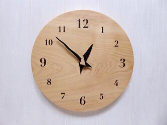 ヒノキの時計 30センチ 118s 文字盤茶色の画像