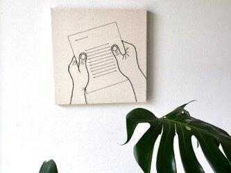 ファブリックパネル 手紙の画像