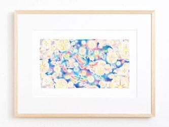 """絵のある暮らし。大きな額装アートプリント """"星あふれる夜空を舞う鳥たち"""" FAP-A3N501の画像"""