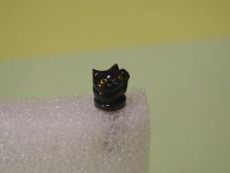 まねきねこイヤホンジャック☆黒ネコの画像
