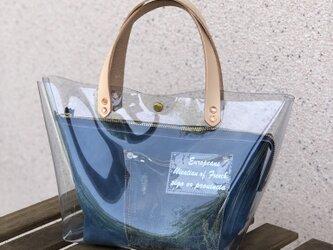 期間限定 PVCバッグ アルバートンポーチ付き ブルーの画像