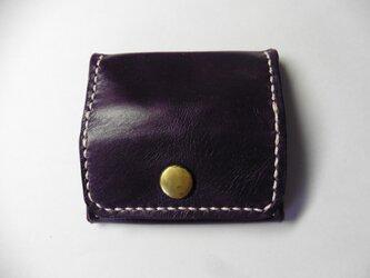 馬革 ポニー★紫の小銭入れ ボックス型の画像