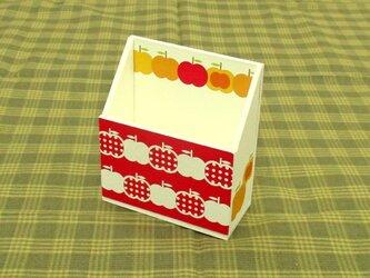 りんごの携帯ホルダー(水玉・赤)の画像