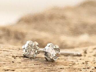 天然ダイアモンド◇PT900◇プラチナ/スタッドピアスの画像