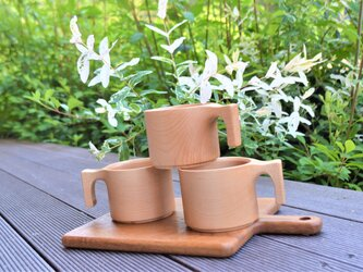 【 大人気 】たっぷり入る 木製マグカップ wooden mag 楓(かえで) 0049の画像