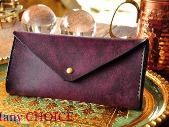イタリアンレザー・革新のプエブロ・長財布2(バイオレット)の画像