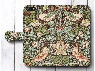 【ウィリアムモリス 5】スマホケース手帳型 全機種対応 絵画 人気 プレゼント iPhoneXRの画像