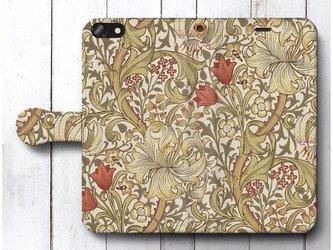 【ウィリアムモリス 13】スマホケース手帳型 全機種 対応 絵画 人気 プレゼント iPhoneXRの画像