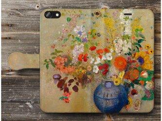 【オディロン ルドン Fondation】スマホケース手帳型 全機種対応 絵画 人気 プレゼント iPhoneXRの画像
