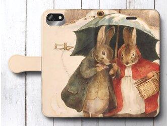 【ビアトリクスポター ピーターラビット】スマホケース手帳型 全機種対応 絵画 人気 プレゼント iPhoneXRの画像
