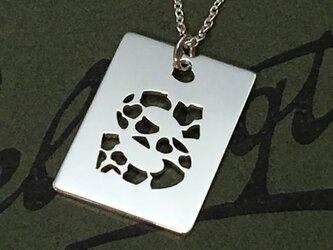 Random Heart Holes Initial Pendant 【受注制作5日】の画像