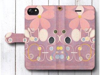 【ヒルマ アフ クリント No 5】スマホケース手帳型 全機種対応 絵画 人気 プレゼント iPhoneXRの画像