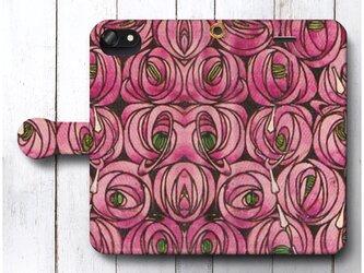 【レニー マッキントッシュ 薔薇 バラ】スマホケース手帳型 全機種 対応 絵画 人気 プレゼント iPhoneXRの画像
