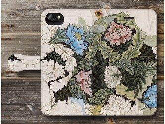 【ウィリアムモリス ロンドンリース】スマホケース手帳型 全機種対応 絵画 人気 プレゼント iPhoneXRの画像