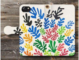 【アンリ マチス La Gerbe フォービズム】スマホケース手帳型 全機種 対応 絵画 人気 プレゼント iPhoneXRの画像