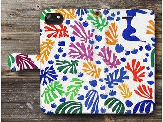 【アンリ マチス インコとセイレーン】スマホケース手帳型 全機種対応 絵画 人気 プレゼント iPhoneXRの画像