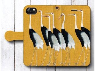【尾形光琳 伝統的肖像画】スマホケース手帳型 全機種 対応 絵画 人気 プレゼント iPhoneXRの画像