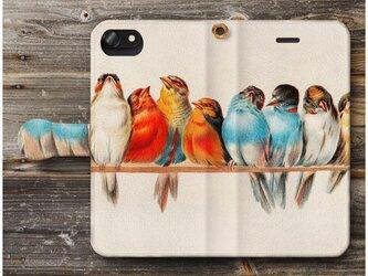 【ヘクタージャコメリ 鳥のとまり木】スマホケース手帳型 全機種 対応 絵画 人気 プレゼント iPhoneXRの画像