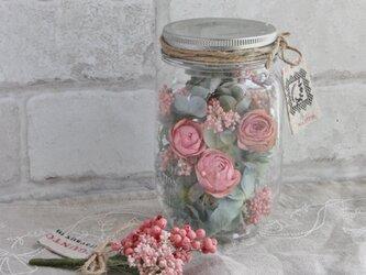 Bottle flower(バラとアジサイ)の画像