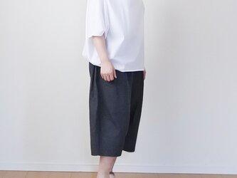 【受注制作】ワイドなバルーンパンツ  ※ブラックデニムの画像