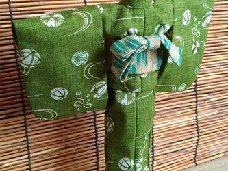 27cmドール浴衣 和緑の毬の画像