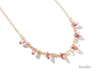 ピンクトルマリンのネックレスです(約50cm)の画像