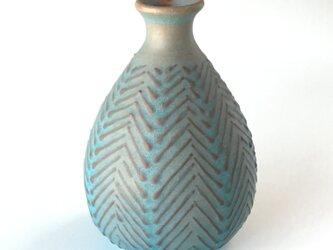 青釉麦わら手花器の画像