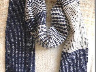 さをり織 和風調 マフラー の画像