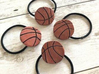 ヘアゴム/バスケットボールの画像