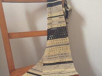 絹紬糸のマフラーの画像