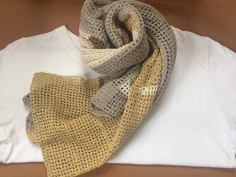 絹紬糸の遊びストールの画像