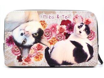 世界に一つ うちの子 オーダーメイド メイクポーチ 親ばか 両面別デザイン マチたっぷりポーチ 化粧ポーチ 犬 猫 旅行 ジムの画像