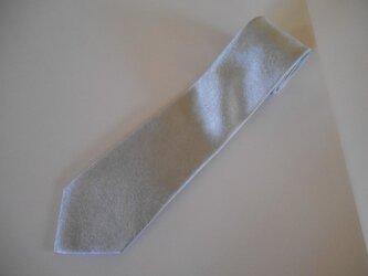 ネクタイ シャードペイズリー(シルバー) シルク(絹)100%の画像