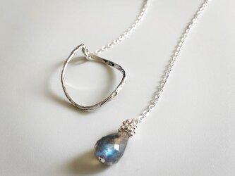 labradorite*silver necklaceの画像