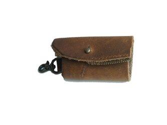 牛革 key case ブラウンの画像