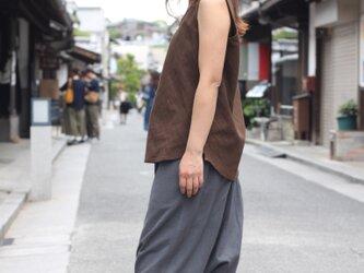 ショート丈・サルエルパンツ・天然染料(グレー)の画像