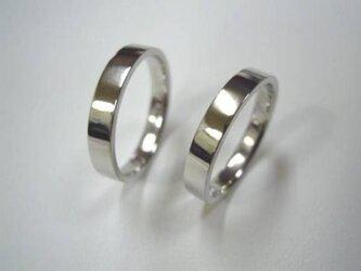 ハンドメイド結婚指輪☆フラットな平内デザインの画像