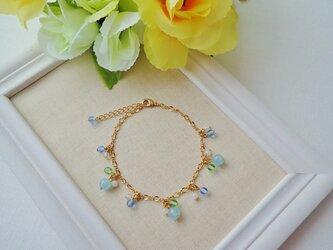 天然石の紫陽花ブレスレットの画像