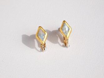 金箔とパールのイヤリング/Hishi/受注生産の画像
