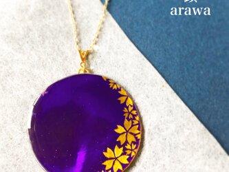 紫光桜 -Shikouzakura- ネックレス【永遠に咲き誇る桜シリーズ】の画像