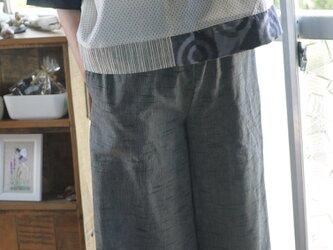 久留米絣グレーからワイドパンツの画像