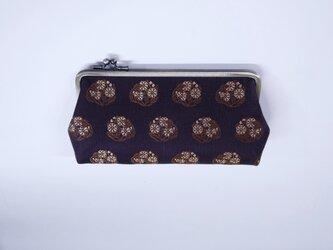 紫紺 長財布 シルク西陣織の画像
