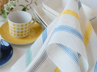 手織りリネンクロス【L-Stripe*02】の画像