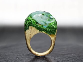【送料無料】Secret Lake ~Resin Wood Ring~の画像