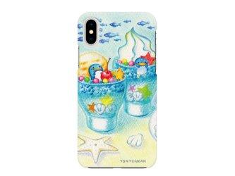 夏のペンギンとお昼寝_left iPhoneハードケースno.150の画像