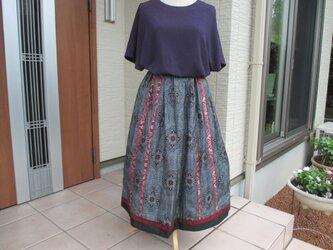 着物リメイク ♬ マチ入り変形スカート ♬  2500引きの画像